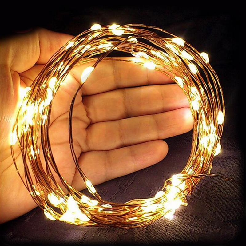Goodland LED String Lights USB Fairy Lights 5M 10M Silver Wire String For Wedding Christmas Garland Gerlyanda Holiday Decoration