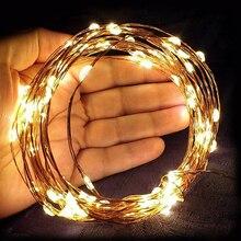 Lights Wire-String Wedding-Christmas-Garland Holiday-Decoration Goodland Gerlyanda 10M