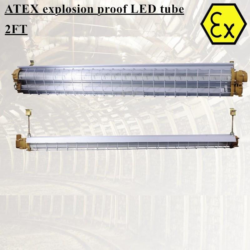 ATEX Linear LED Explosion Proof Lighting Fixtures 2ft 4ft LED Tube Light AC110V 220V 50/60hz Explosion Proof Linear Light