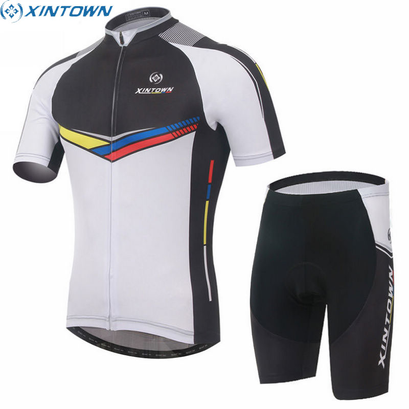 XINTOWN Cycling Jersey Ropa Ciclismo Short Sleeve Men Wear White Bike Summer Bicycle Sports Clothing Wear Suit Set предметы гигиены bike cycling clothing bicycle wear suit short sleeve jersey