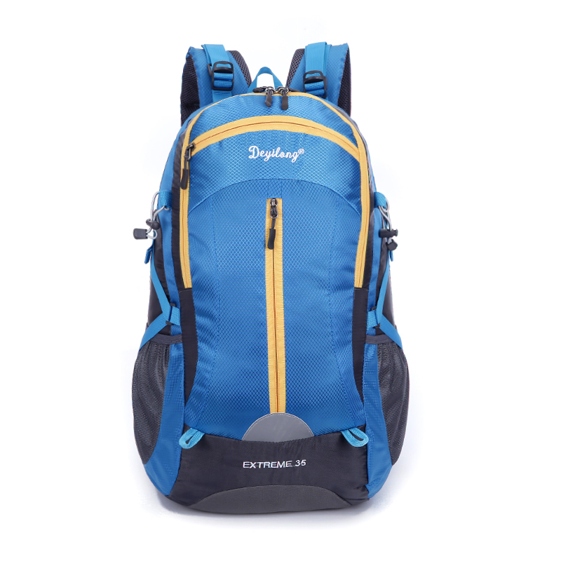 Professional men and women mountaineering bags 40l waterproof bag large capacity backpack with removable shelves bear