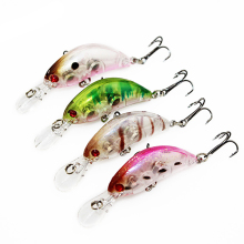1PCS 5.5cm 3.9g Crankbait Hard Bait Tight Wobble Japan Slow Floating Fishing Tackle Lure Wobbler Transparent