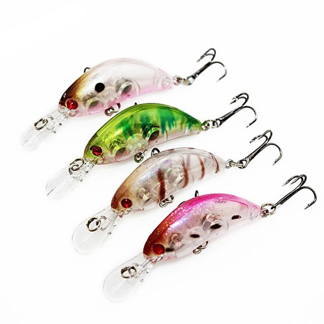 1PCS 5.5cm 3.9g Crankbait Hard Bait Tight Wobble Japan Slow Floating Fishing Tackle Lure Wobbler Transparent