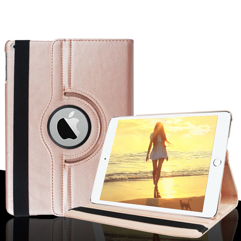 Case For iPad 5 / 6 / Air / Air 2 360 Degree Rotating Solid Stand Flip Folio Case For ipad 9.7 2017 2018 Protective Cover
