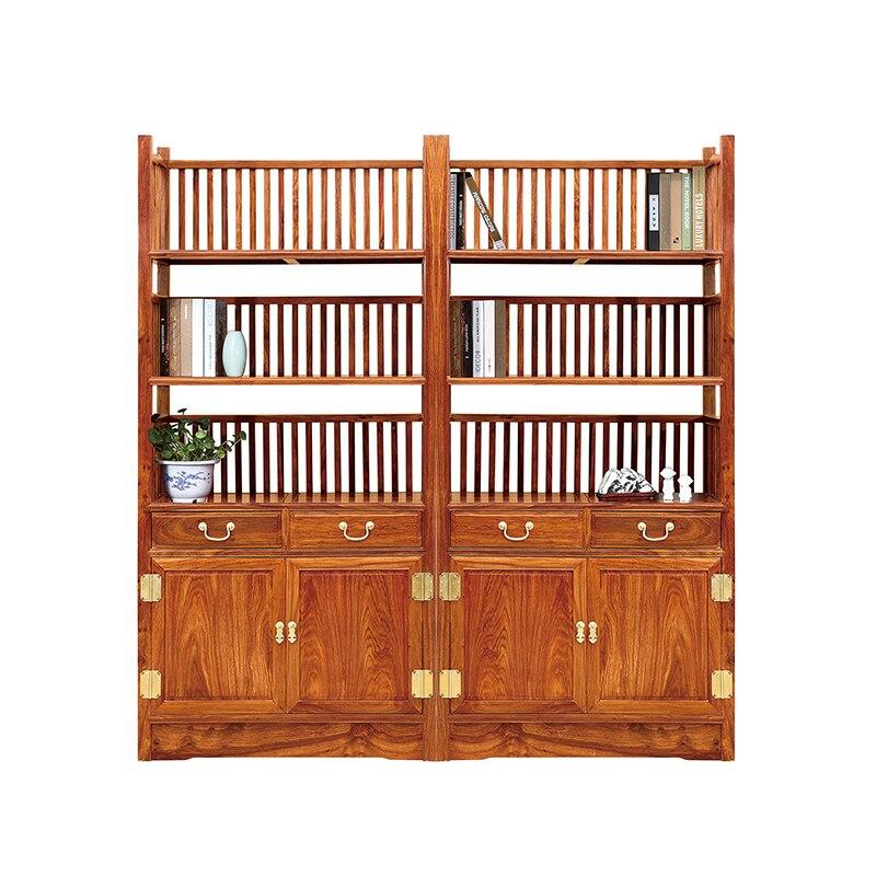 Китайские антикварные полосы полка твердой деревянной мебели Ежик палисандр мебель файл шкаф Книжная полка Размер 88*38*185 см