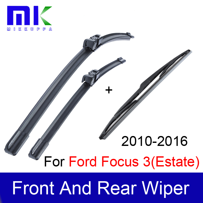 wiper blades for ford focus 3 estate 2010 2011 2012 2013 2014 2015 2016 silicone rubber. Black Bedroom Furniture Sets. Home Design Ideas