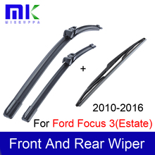 Wiper Blades For Ford Focus 3(Estate) 2010 2011 2012 2013 2014 2015 2016 Silicone Rubber Windshield Wiper  Auto Car Accessories