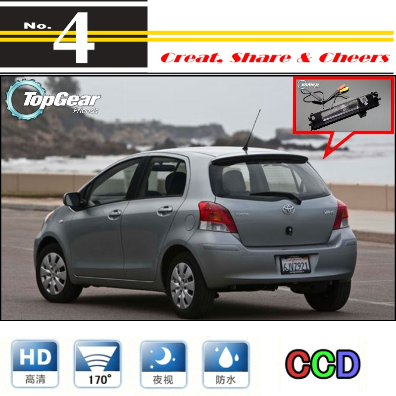 Car Camera For TOYOTA Yaris Vitz Hatchback MK2 2005~2013 High Quality Rear View Back Up Camera For PAL / NTSC Use | CCD + RCA