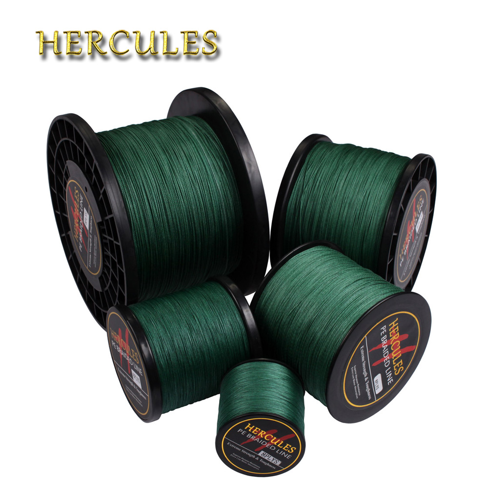 Hercules 2000M Fishing Cord 10LB-200LB Green Strong Big Game Saltwater Carp Fishing 8 Strands Braided Fishing Line 2187 Yards