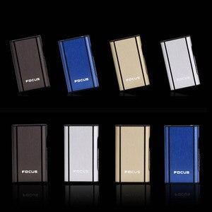Image 5 - 高品質 1 個アルミ合金噴出ホルダーポータブル自動シガレットケース防風金属ボックス煙箱