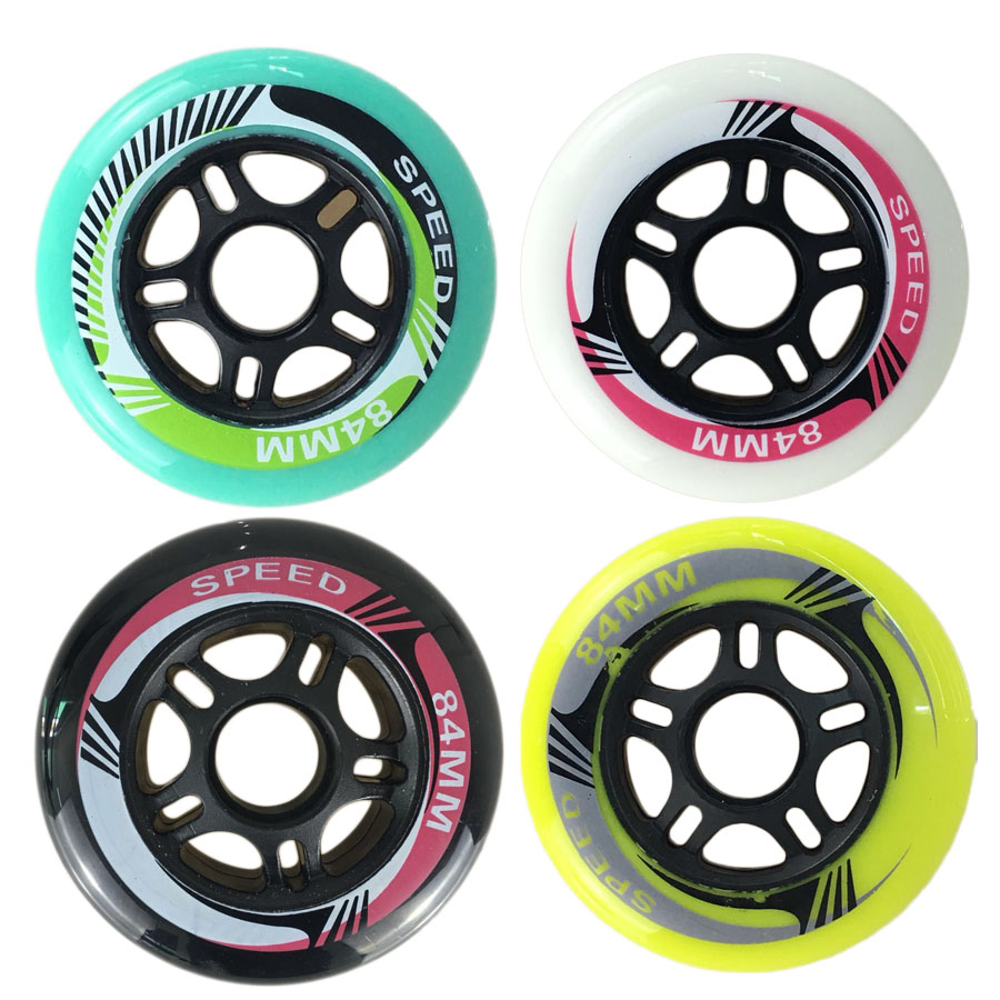 8 pcs/ensemble 80A ~ 83A Inline Skate Roues 84mm * 24mm Professionnel Vitesse Livraison Rouleaux De Patinage De Patinage Roues pour Racing Patines Pneus