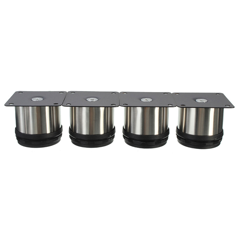 4Pcs Cabinet Legs Adjustable Stainless Steel Furniture Feet Round Stand Holder