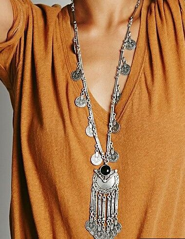 LOVBEAFAS 2018 Fashion Ethnic Collier Femme Bohemian Long Necklace Statement Maxi Vintage Necklace Монета Тассел Fine Jewelry