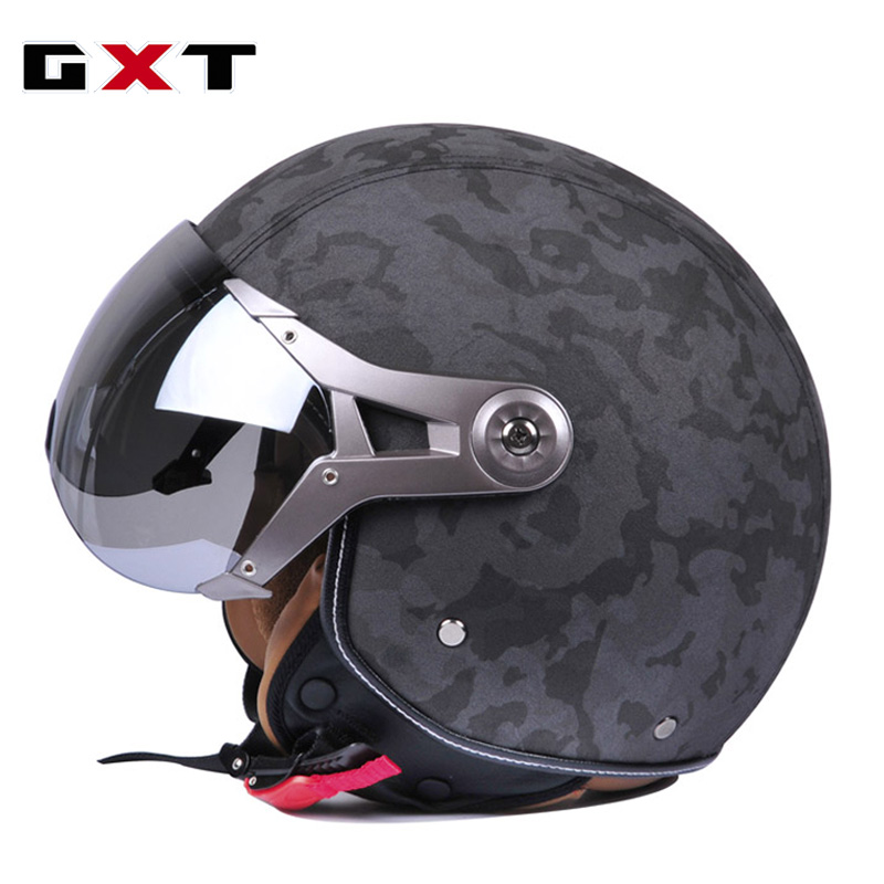GXT Retro Moto Casco Men Vintage Motorcycle Helmets Bike Bicycle Helmets Scooter Capacete Casque for ruby