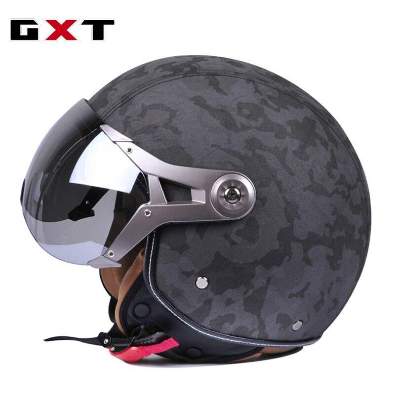 GXT Retro Moto Casco Men Vintage Motorcycle Helmets Bike Bicycle Helmets Scooter Capacete Casque for Harley ruby helmet