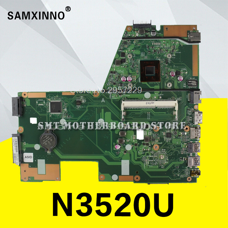 X551MA Motherboard N3520 REV:2.0 For ASUS D550MA F551M F551MA R512 R512MA laptop Motherboard X551MA Mainboard X551MA Motherboard free shipping the laptop motherboard for asus x551ma rev 2 0 with n2830u full test and work perfect