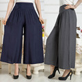 2016 New Wide Leg Pants Women Linen Cotton Trousers Plus Size Pants Casual Trousers Loose Harem Pant
