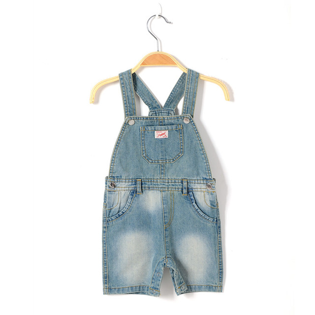 3d61c34932df baby boy brand denim romper newborn jeans playsuit summer kids overall  short pants boy dungaree toddler spring jumpsuit clothing