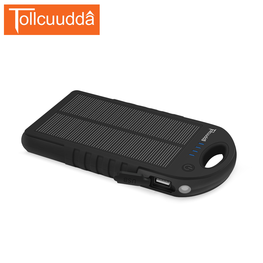 Tollcuudda Solar Phone Power Bank 10000mAH For Xiaomi Iphone 6 Mobile Battery Charger Poverbank Portable Powerbank