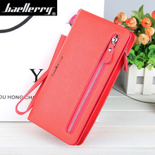 цены Women Wallets Leather Purse Long Zipper Casual Clutch Wallet Wristlet Portefeuille Carteira Feminina Monedero Solid Black Colors