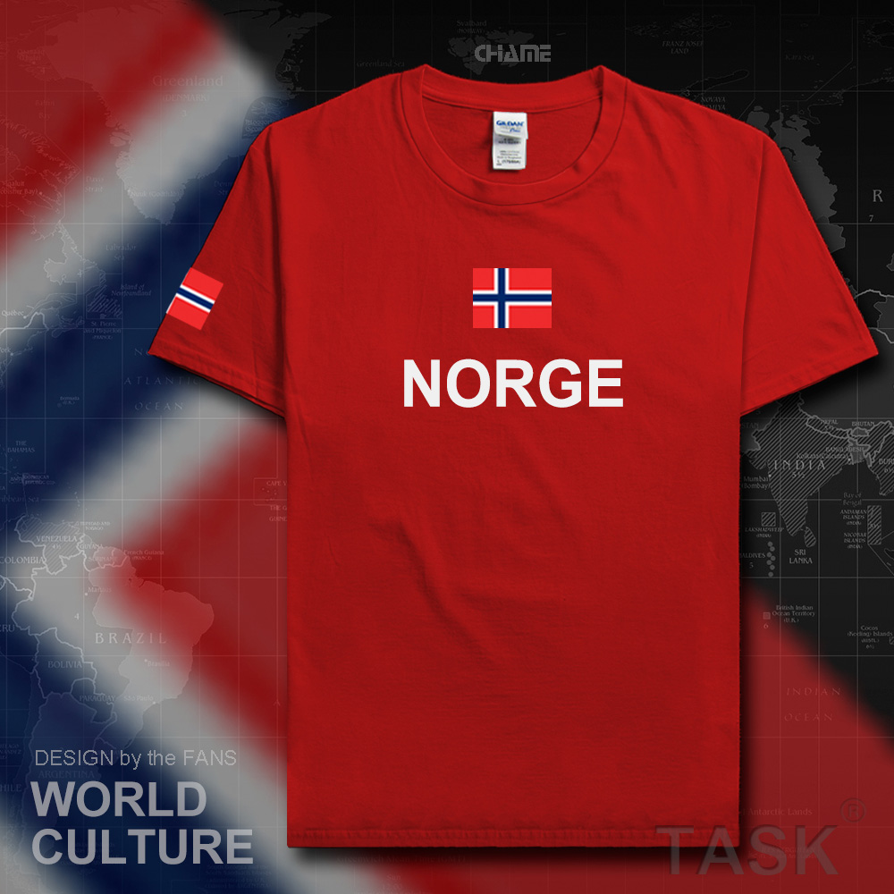 Norway Norge men   t     shirts   fashion 2017 jerseys nation team tshirt cotton   t  -  shirt   meeting fitness gyms clothing tees country flag