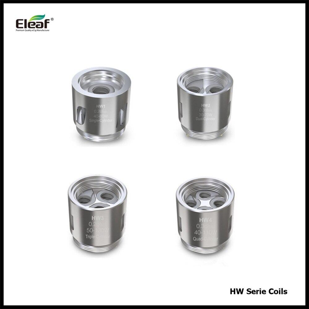 5 Pcs/lot Eleaf HW Série Bobine HW1 HW2 HW3 HW4 Vaporisateur cylindre Tête De Bobine de Remplacement pour Eleaf Ello Mini XL Atomiseur réservoir