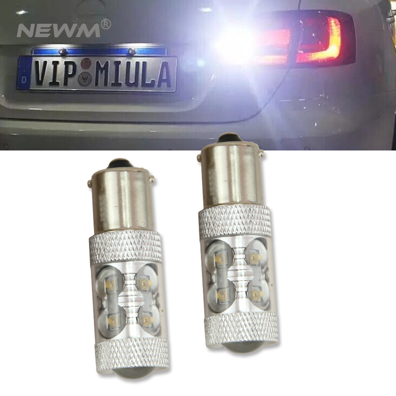 White P21W BA15s 1156 LED Canbus Backup Reversing Light For VOLKSWAGEN Passat B1 B2 B3 B4 B5 B6 for VW Reverse Lamp 2PCS wljh 2x canbus 20w 1156 ba15s p21w led bulb 4014smd car backup reverse light lamp for bmw 228i 320i 328d 328i 335i m3 x1 x4 2015
