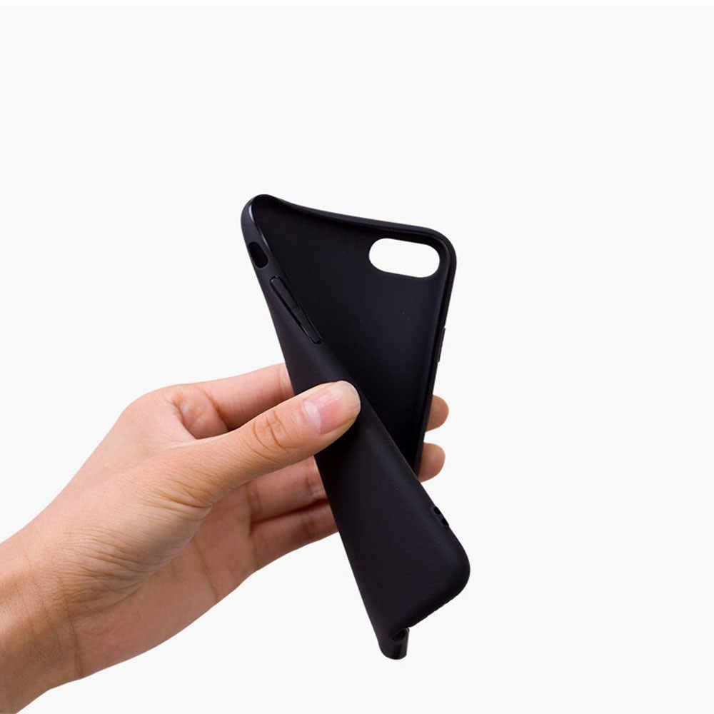 Estetika Pastel Kolase Tritone Lembut Silicone Ponsel Case Penutup Shell untuk Apple iPhone 5 5 S 6 6 S 7 8 Plus X XR X Max