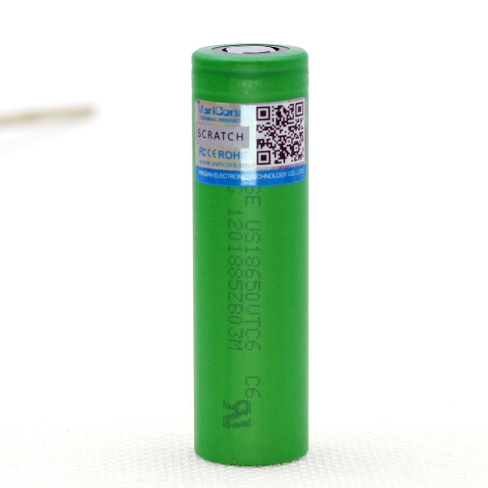 Varicore <font><b>VTC6</b></font> 3,7 В 3000 мАч <font><b>18650</b></font> Li-Ion Батарея 30A разряда US18650VTC6 электронная фонарь Батарея инструменты