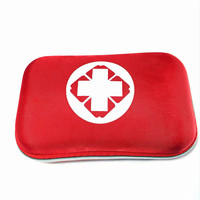 18 piece Car Outdoor First Aid Kit Medical Kit Waterproof Nylon Cloth Easy To Carry Portable Medical Package Black and Red