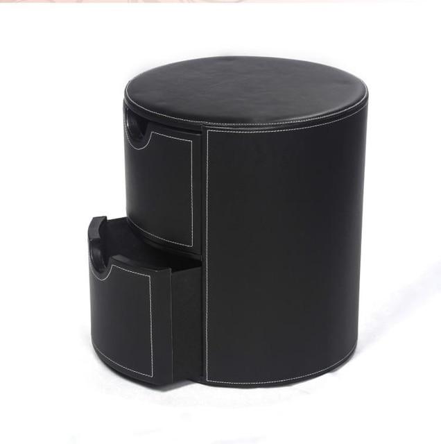 Number cajones de almacenamiento ronda taburete silla bin caja de ...