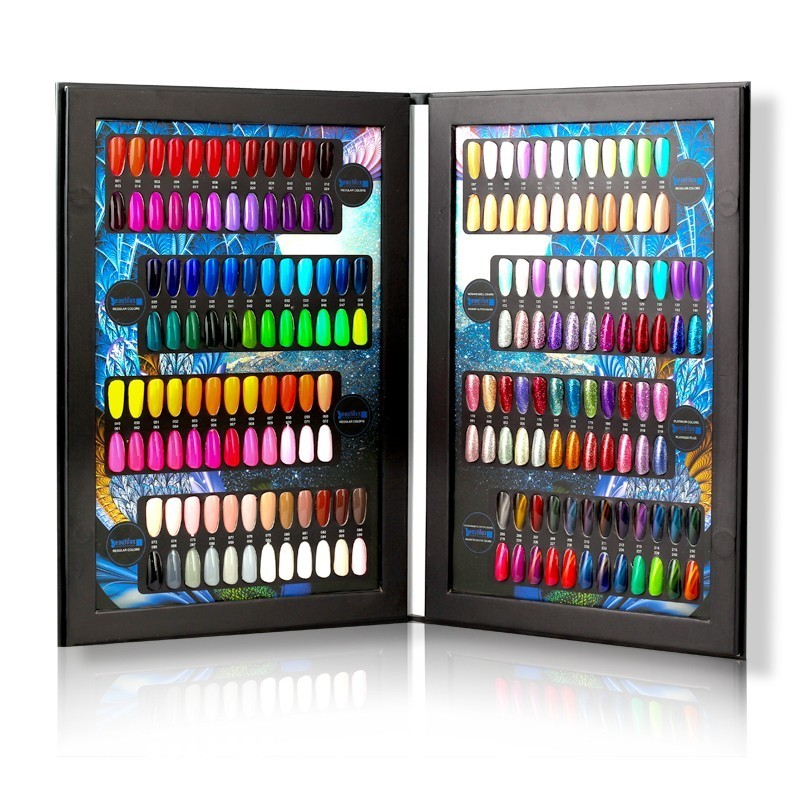 Beautilux Professional Nail Gel Polish Color Selector Pallete Nail Salon Display Book Catalogue Color Chart 192 Colors