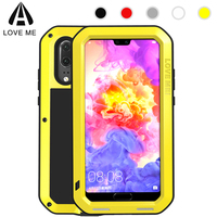 Love Mei Armor Metal Case For Huawei P20 Pro Case Cover Powerful Aluminum Shockproof Life Waterproof