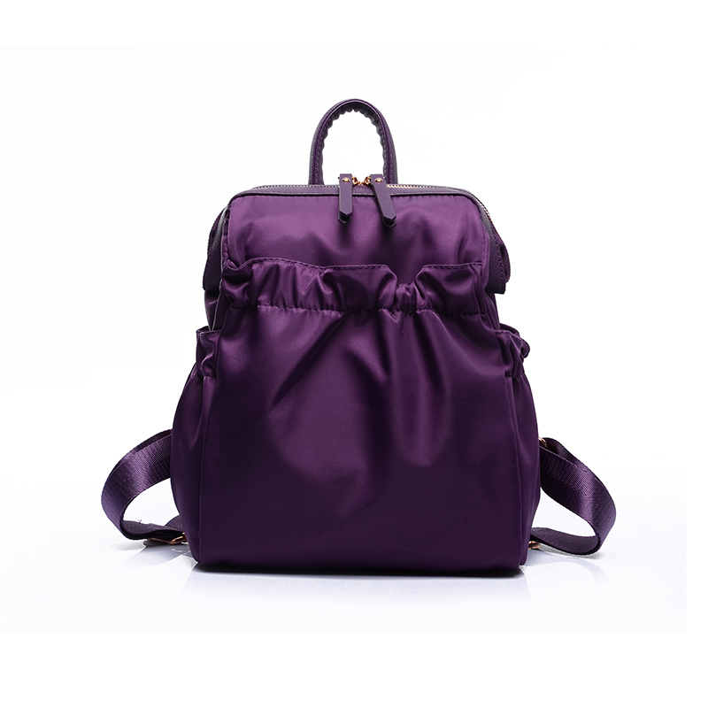 2016 New Waterproof Nylon Women School Backpacks for Teenage Girls Fashion Ladies Shoulder Bags Purple