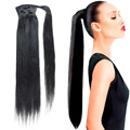 Wrap Around Human Hair Ponytail Hairpieces Human Hair Drawstring Ponytail 100% Brazilian Remy Human Hair Pony tail Clip In