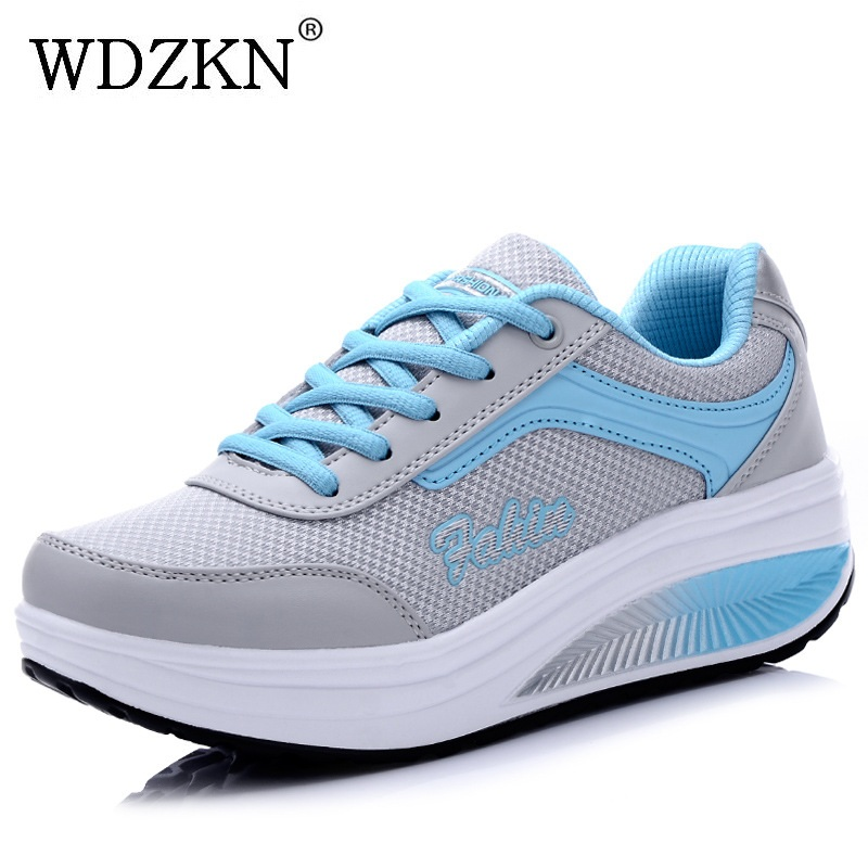 New swing shoes women flat platform shoes zapatillas mujer breathable air mesh summer casual shoes woman M8902 hot new 2016 fashion high heeled women casual shoes breathable air mesh outdoor walking sport woman shoes zapatillas mujer 35 40