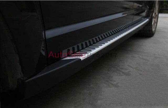 Stainless steel embedded black Door body running board side runner step bar For Dodge Journey 7 & Stainless steel embedded black Door body running board side runner ...