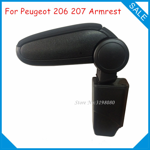 Фото Free Shipping FOR PEUGEOT 206 207 Car ARMREST Interior Accessories Auto Parts Center Armrest Storage Driver Console Box Arm Rest