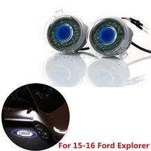 2 шт. Вид Сзади Автомобиля Зеркала Светодиодные Проектор Призрак Тень Свет Логотип Лазерная Лампа Для 2015-2016 Ford Explorer #6011