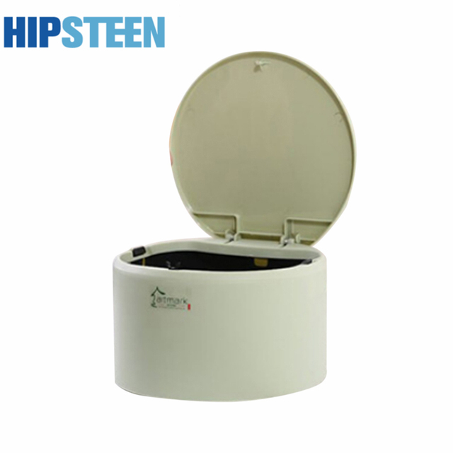 Incroyable HIPSTEEN Rounded Delicate Mini Tabletop Trash Can Plastic Durable Garbage  Can With Snap Cover