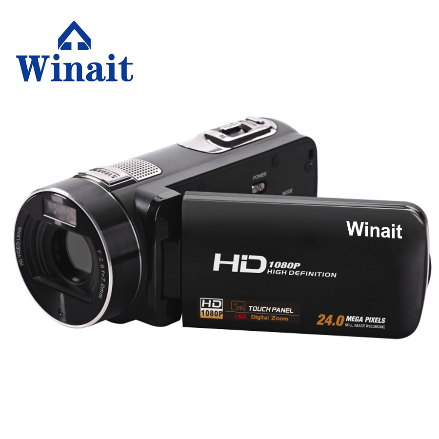 Full hd 1080p digital video camera HDV-Z8 24mp 16X digital zoom self-time 32GB memory digital video camcorder winait electronic image stabilization hdv z8 digital video camera with recording function touch screen