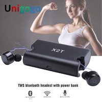 X1T X2T Mini Bluetooth In Ear Earphones Twins Wireless Earbuds Stereo Headphones With Mic Charging Box