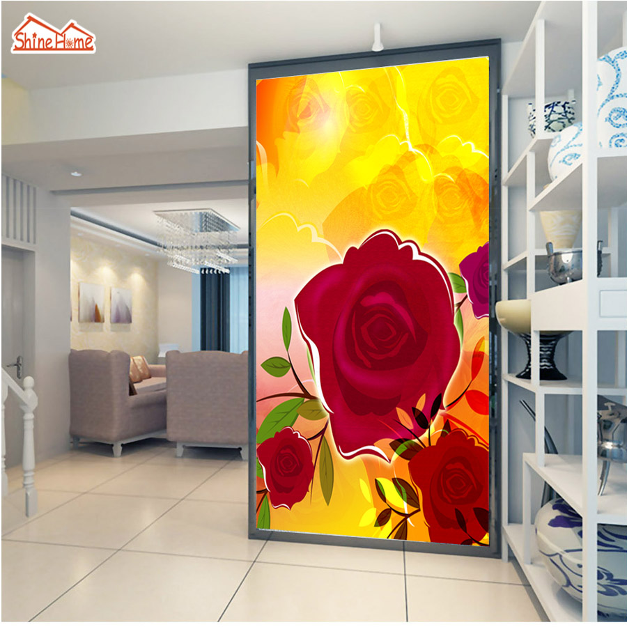Murals Photo Wallpaper For Walls In Rolls 3d On The Wall Wallpapers Paper Home Decor 3 D Red Rose Decoration Papel De Parede