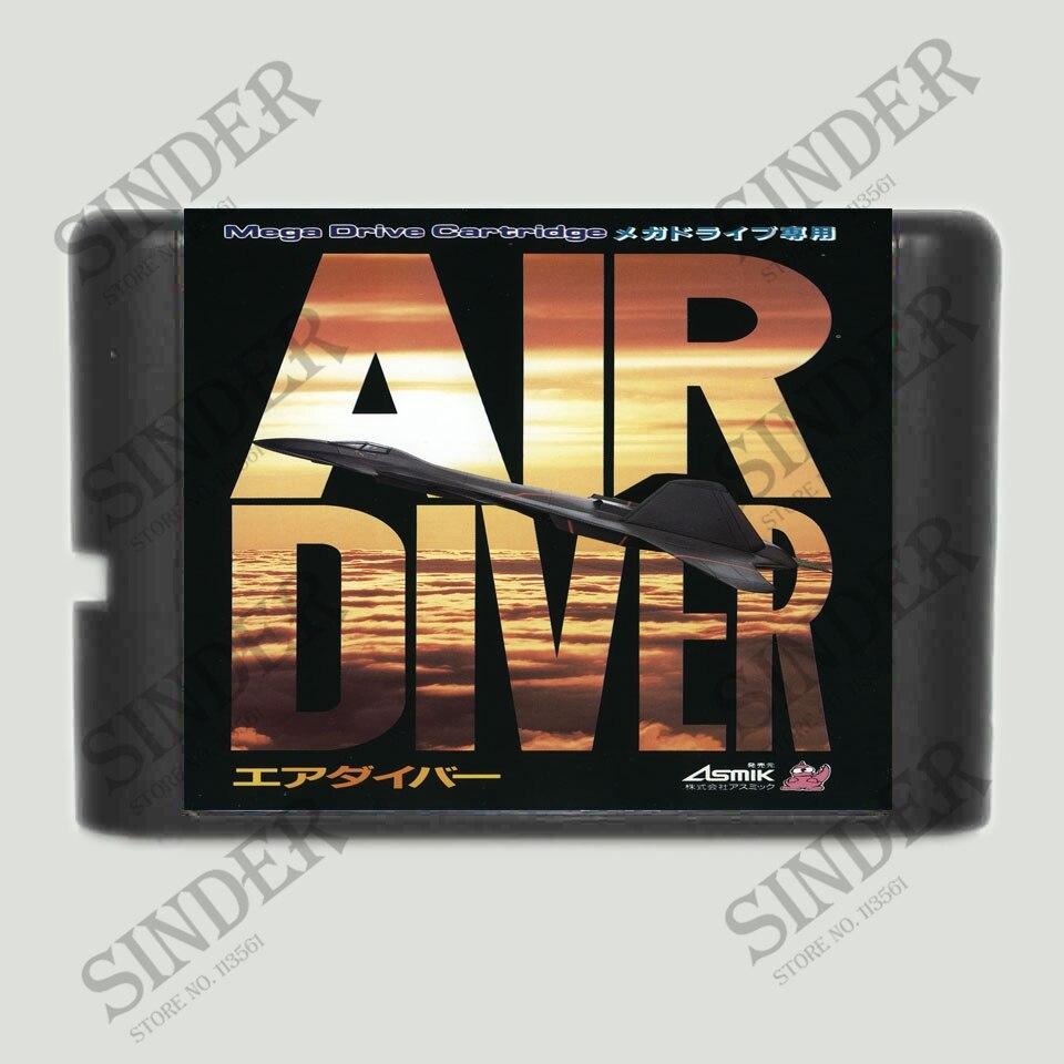 Air Diver 16 bit MD Game Card For Sega Mega Drive For Genesis