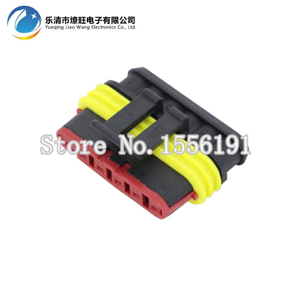 50 Sets 6 Pin AMP 1.5 Connectors,DJ7061 1.5 Waterproof Electrical ...