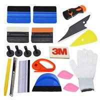 3D Car Carbon Fiber Vinyl Film Sticker Wrapping Install Tools Kit Set Magnet Holder 3M Scraper