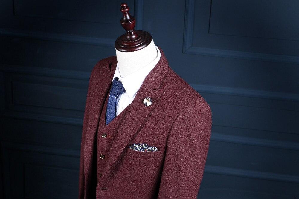 2017 trajes para hombre Groomsman Groom Tuxedos por encargo El mejor - Ropa de hombre - foto 2