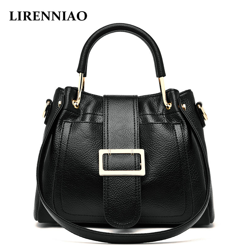 LIRENNIAO Quality Assurance Luxury Genuine Leather Shoulder Bag Casual Tote Women Handbag Vintage Large Capacity Strap Handbags 2018 quality assurance luxury genuine leather shoulder bag casual tote women handbag vintage hobo large capacity strap hand bag