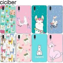 ciciber for Huawei P20 P30 P10 P9 P8 Lite Pro Plus 2017 Soft TPU Phone Cases Mate 20 10 9 X Cover Cute Llama