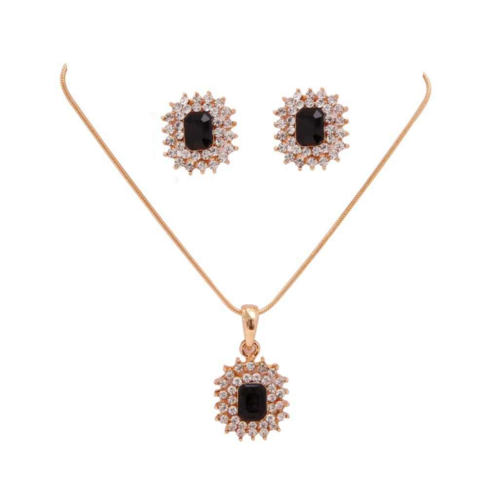 New Lovely Snowflake Full  Rhinestone Shiny Jewelry Chain Necklace/Stud Earring Wholesale Jewelry Set For Women Low Price